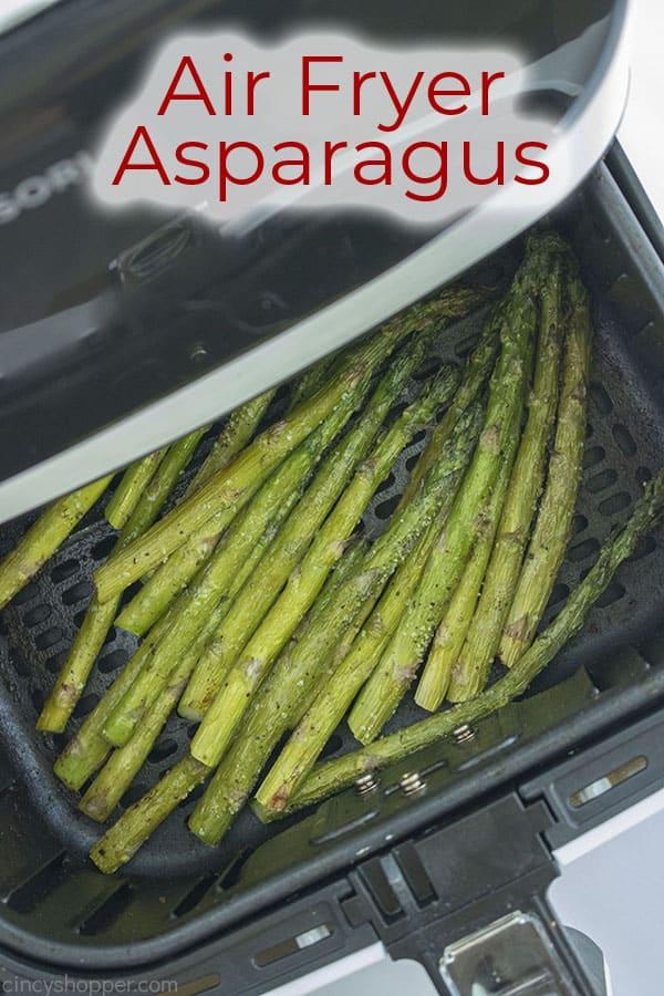 Text on image Air Fryer Asparagus