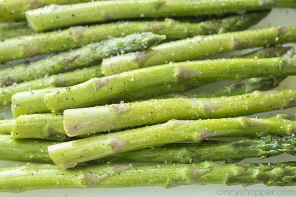 Seasoned asparagus