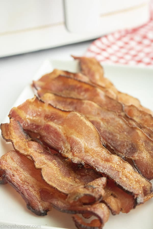Perfect crispy bacon made in the air fryer