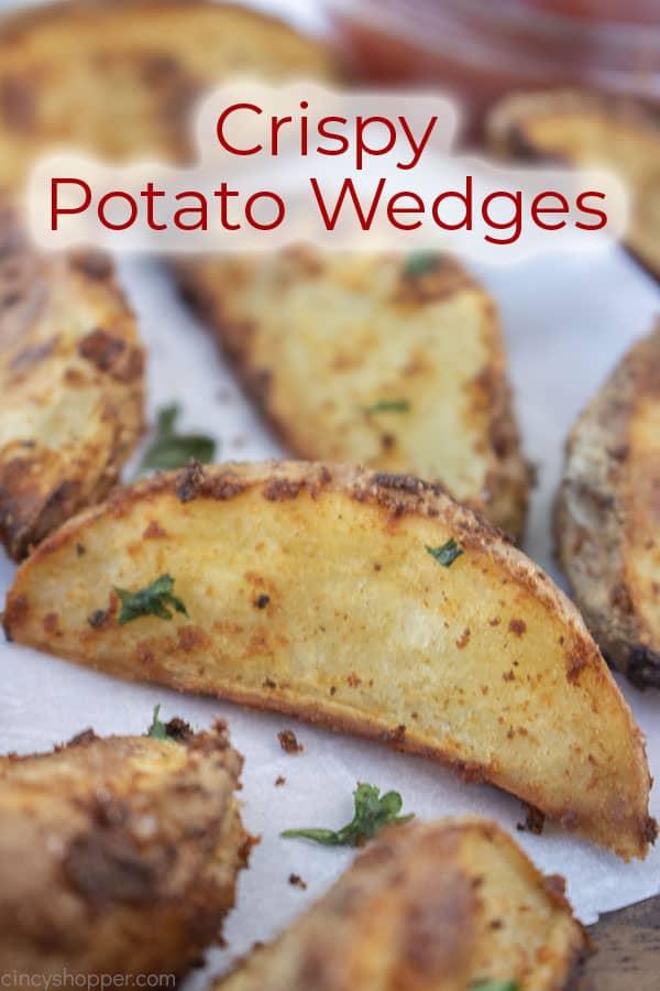 Text on image Crispy Potato Wedges