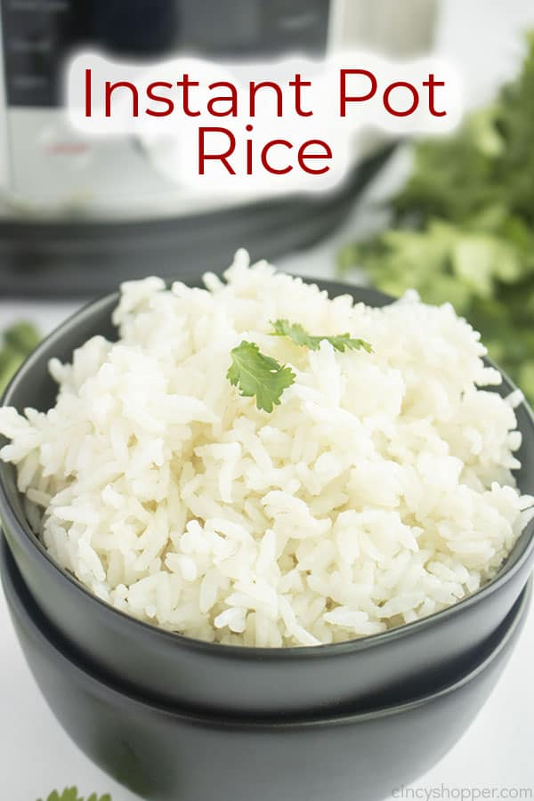Text on image Instant Pot Rice