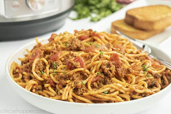 Spaghetti made in an Instant Pot