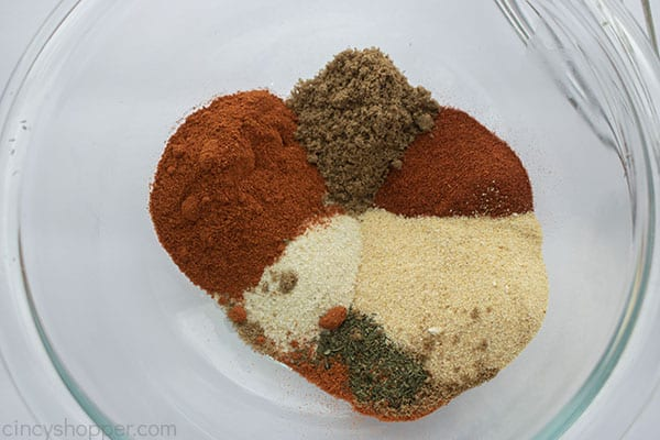 Homemade steak seasoning spices in a bowl