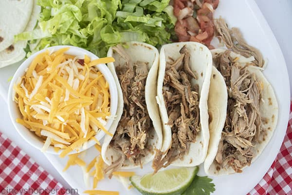 Plate with Carnita Tacos