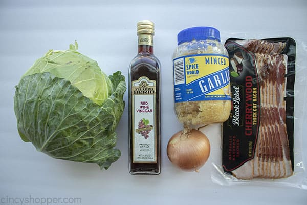 Ingredients for Southern Fried Cabbage
