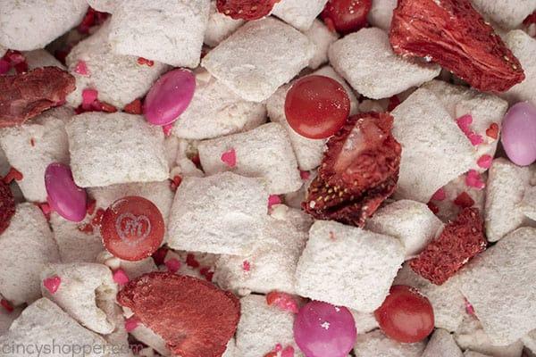 Closeup of Strawberry Muddy Buddy Mix
