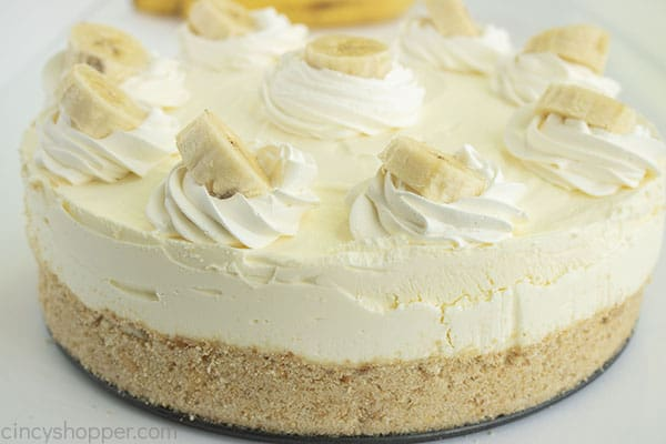Easy Banana Cheesecake finished