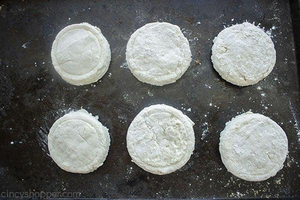 Biscuit dough on sheet pan