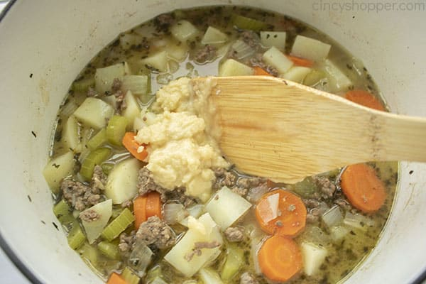 Roux added to burger soup