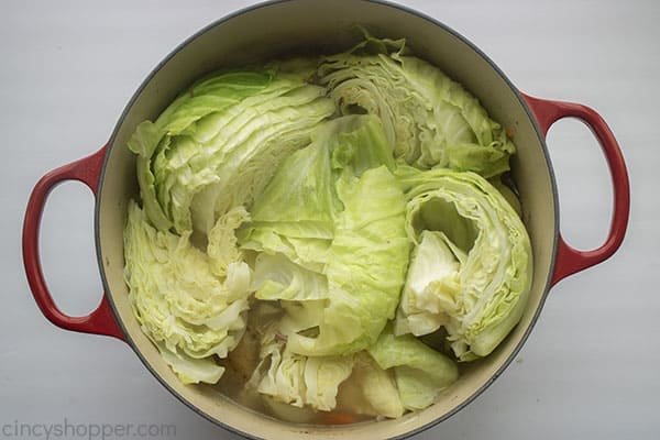 Fully cooked corned beef with cabbage and veggies