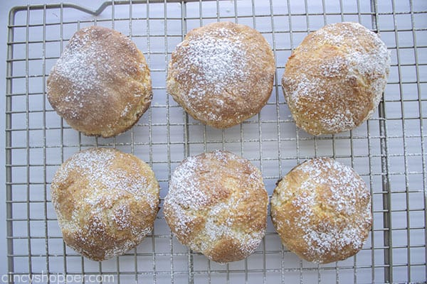 Sweet biscuits dusted with powdered sugar