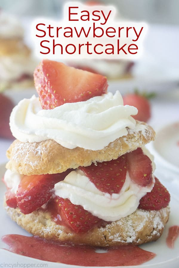 Text on image Easy Strawberry Shortcake