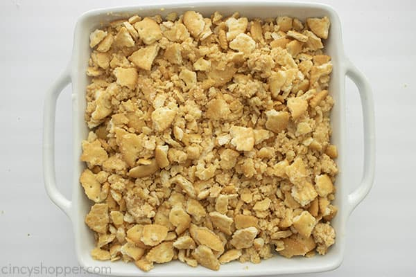 Pineapple Baked Casserole topped with cracker mixture