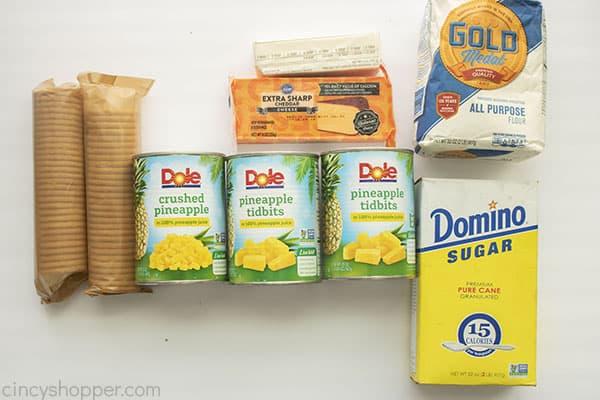 Ingredients for Pineapple Bake