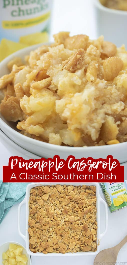 Long pin collage text banner Pineapple Casserole A Classic Southern Dish
