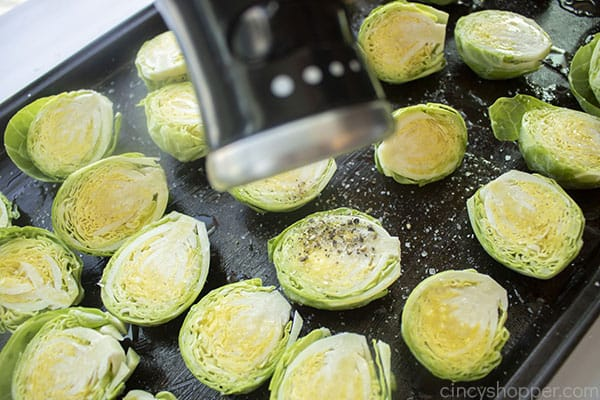 Pepper added to prepared Brussel Sprouts