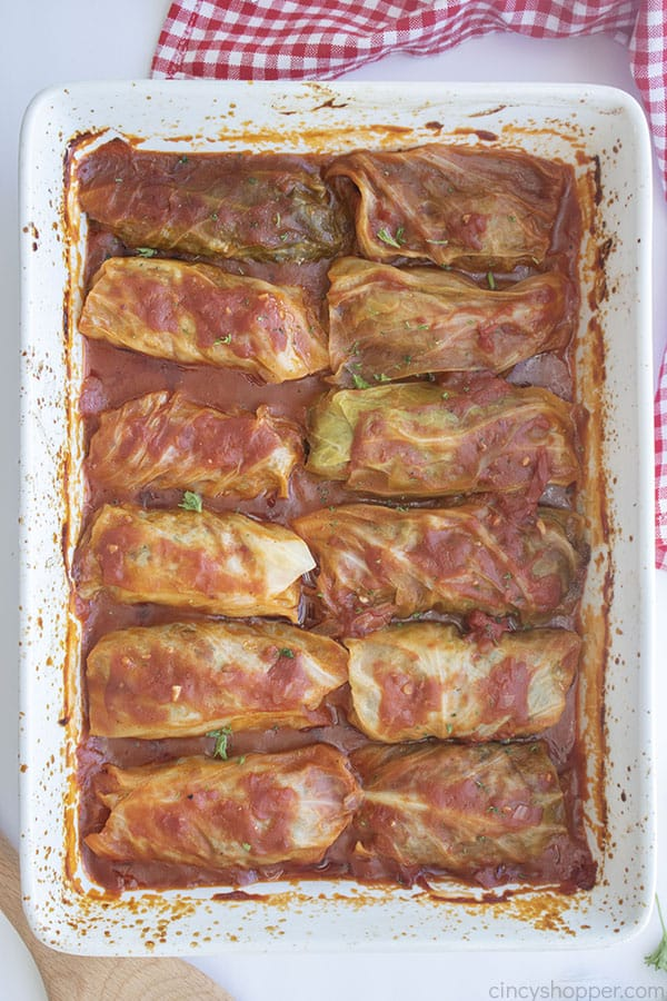 The BEST Baked Stuffed Cabbage in a dish