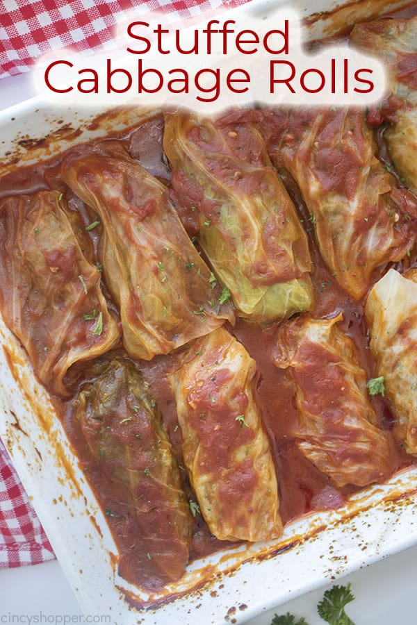 Text on image Stuffed Cabbage Rolls