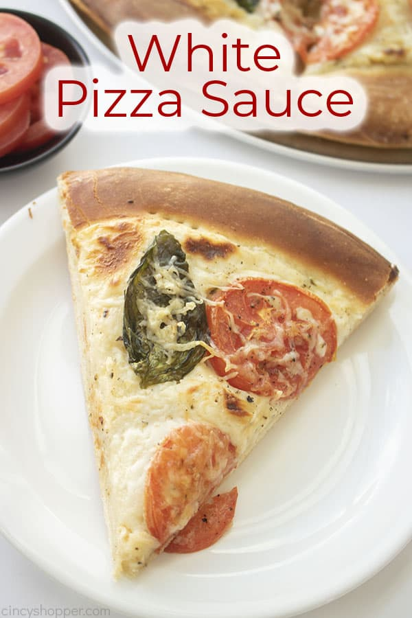 Text on image White Pizza Sauce