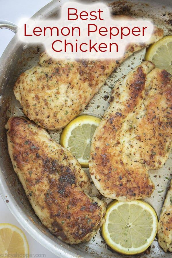 Text on image Best Lemon Pepper Chicken