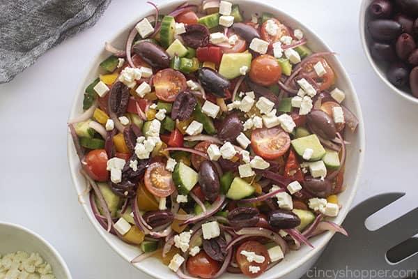 Finished cold salad