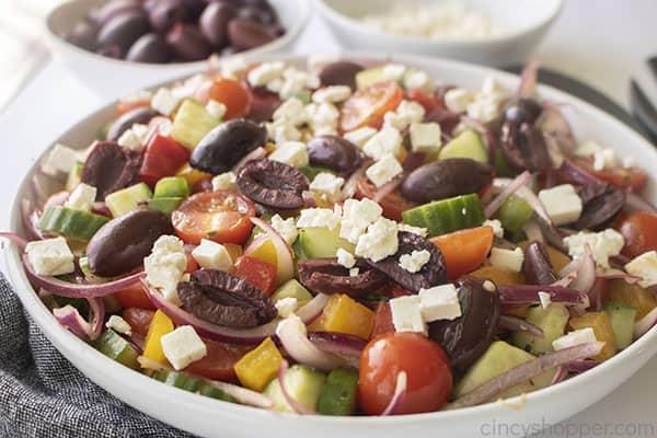 Greek Salad with Feta in a dish