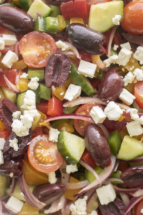 Closeup of Mediterranean Salad