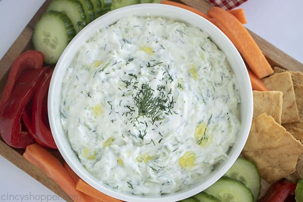 Homemade Text on image Greek Tzatziki in a bowl