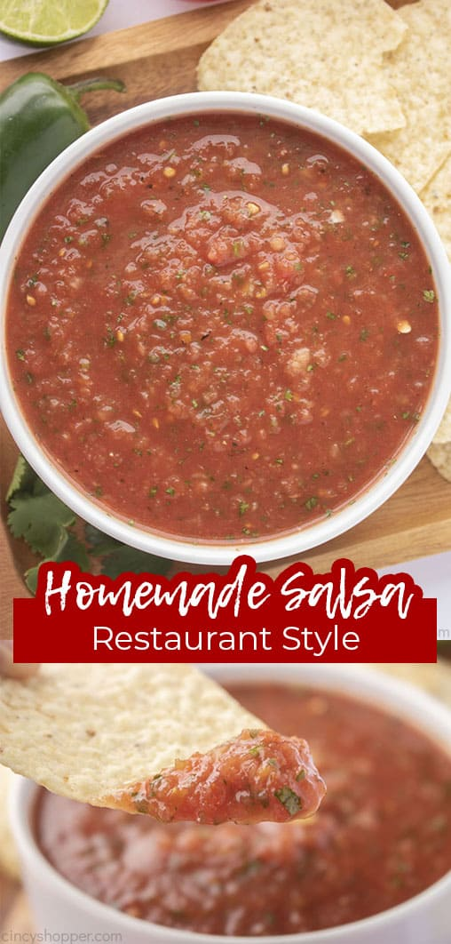 Long pin collage Homemade Salsa Restaurant Style
