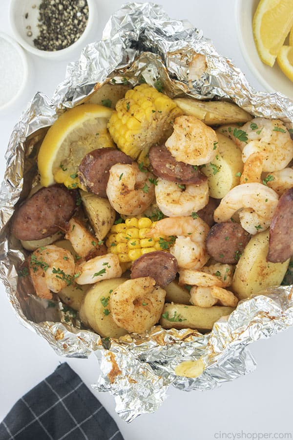 Low Country Boil Packets with shrimp