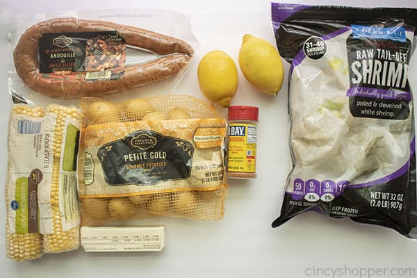 Ingredients for Low Country Boil