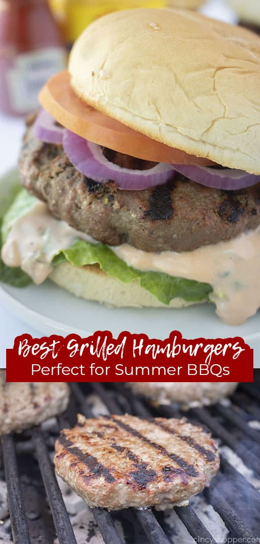 Long pin Best Grilled Hamburgers Perfect for Sumer BBQs