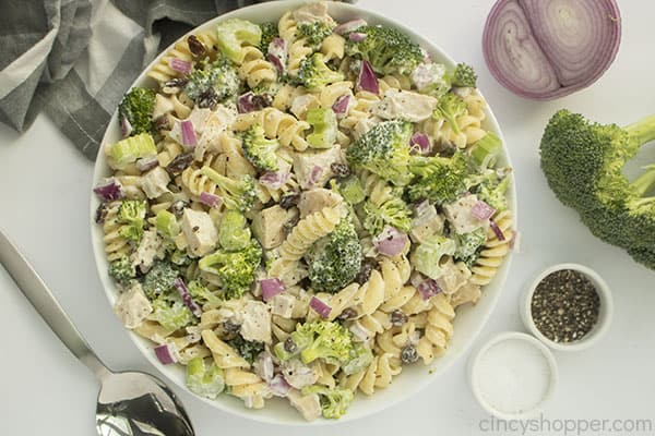 Bowl of Broccoli Pasta Salad
