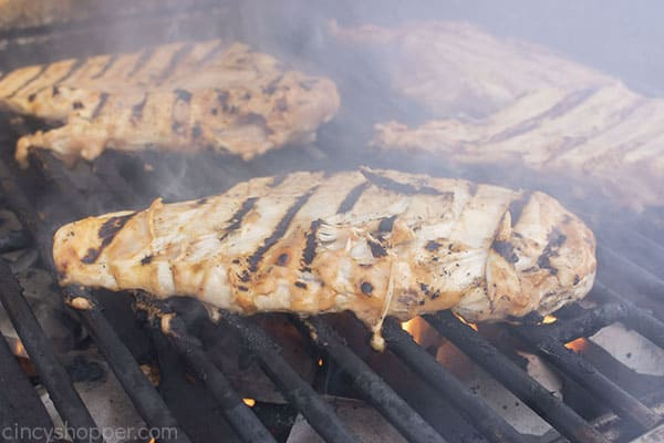 BBQ Chicken breast on the grill