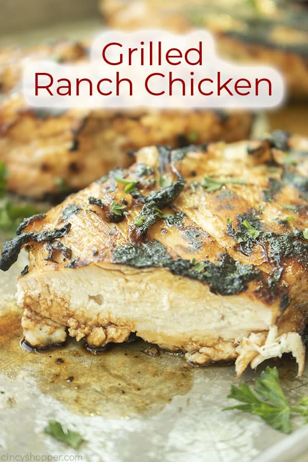 Text on image Grilled Ranch Chicken