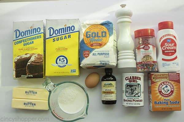 Homemade Cupcake ingredients