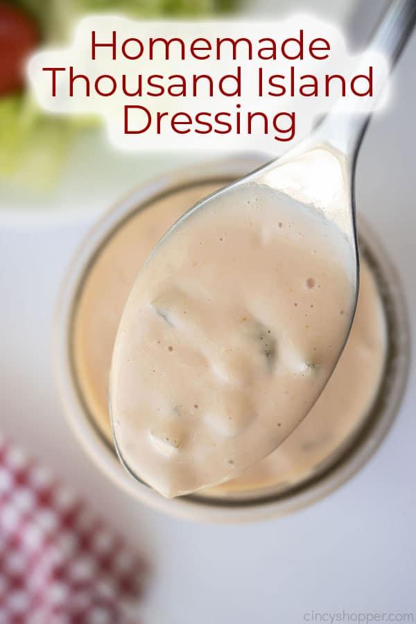 Text on image Homemade Thousand Island Dressing
