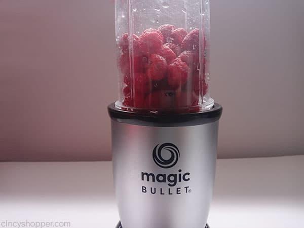 Raspberries in blender