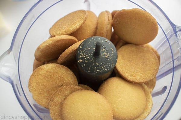 Nilla Cookies in food processor