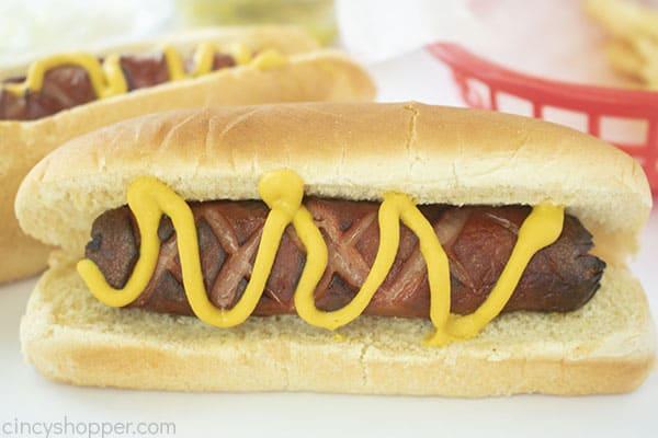 Air Fried hot dog