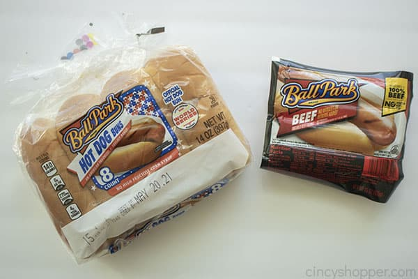 Ingredients for air fryer hot dog