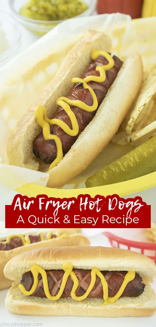 Long pin Air Fryer Hot Dogs A Quick & Easy Recipe