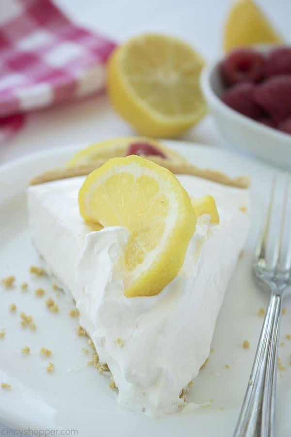 Lemonade Pie on a plate