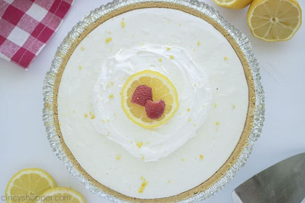 No Bake Lemonade Frozen Pie