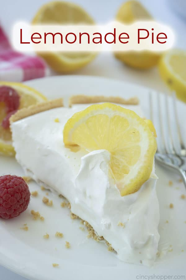 Text on image Lemonade Pie