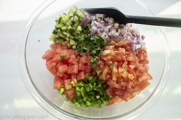 Fresh salsa ingredients in a bowl