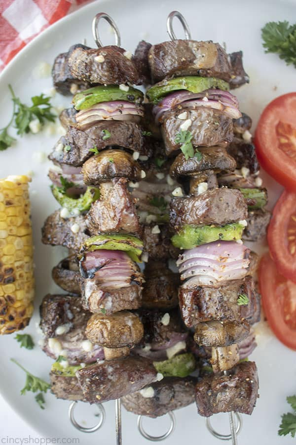 Grilled Garlic Steak Kabobs Steak Kebabs