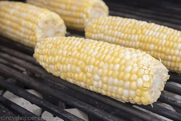 Fresh corn on the grill