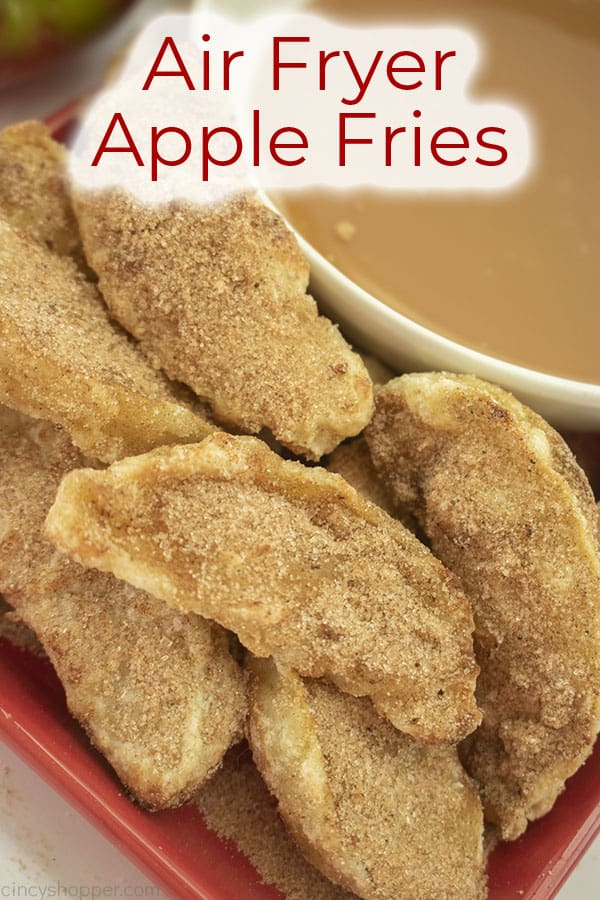 Text on image Air Fryer Apple Fries