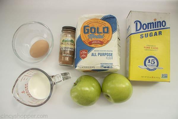 Ingredients for Air Fryer Apple wedges